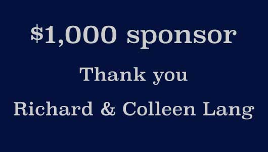 Thank you sponsor Richard & Colleen Lang