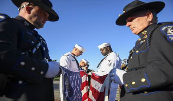 South Snohomish County Honor Guard in action photo.