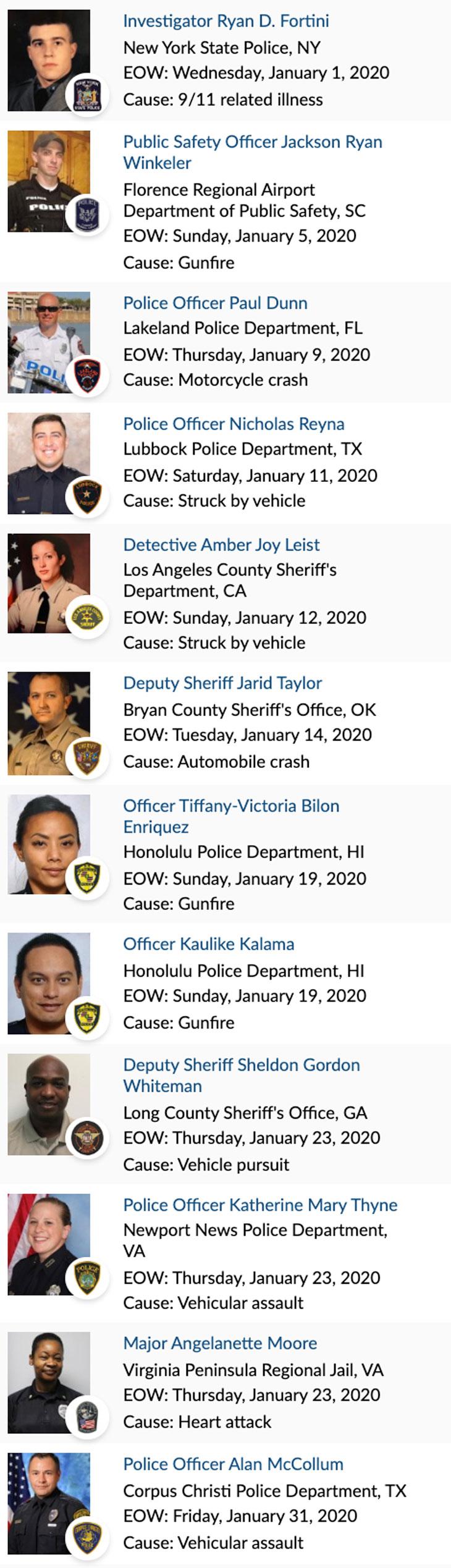 Officer Memorial 01-2020