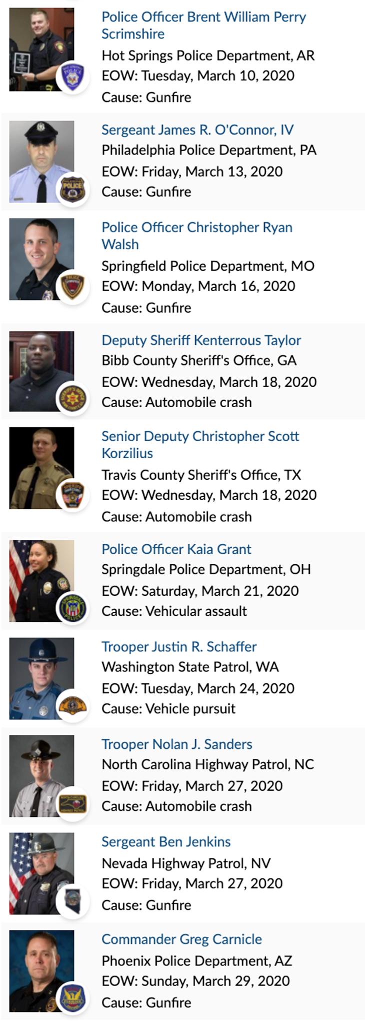 Officer Memorial 03-2020